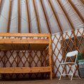 The large yurts are actually quite spacious.- Arizona Nordic Village Cabins + Yurts