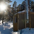 As the sun drops, the temperature plummets.- Arizona Nordic Village Cabins + Yurts