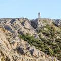 Iceberg Point monument.- Lopez Island: Iceberg Point