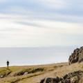 Overlook on the edge of the cliff.- Lopez Island: Iceberg Point