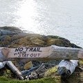 The end of the trail.- Lopez Island: Iceberg Point
