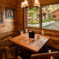 Dining area in one of the Double Studio Cabins. Photo courtesy of Cedar Glen Lodge.- Cedar Glen Lodge