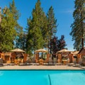 Heated outdoor pool. Photo courtesy of Cedar Glen Lodge.- Cedar Glen Lodge