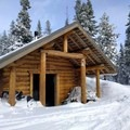 Nordeen Shelter.- Nordeen Shelter via Snowshoe Long Loop