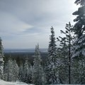 View from Nordeen Shelter.- Nordeen Shelter via Snowshoe Long Loop