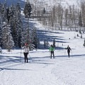 Skiing the Solitude Nordic Center.- Solitude Nordic Center