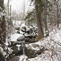 Creek alongside the trail- Bells Canyon Lower Falls Snowshoe