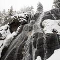 Bells Canyon Lower Waterfalls.- Bells Canyon Lower Falls Snowshoe