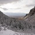 The view out toward Salt Lake City.- Bells Canyon Lower Falls Snowshoe