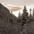 Beautiful views from Bells Canyon.- Bells Canyon Lower Falls Snowshoe