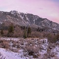 Sunset in Bells Canyon.- Bells Canyon Lower Falls Snowshoe