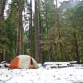 Campsite at Ipsut Creek Backcountry Campground.- Ipsut Creek Backcountry Campground