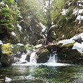 Ipsut Falls.- Ipsut Creek Backcountry Campground