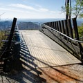 Summit platform at the end of the parking area. It is located just below the true summit of Sassafras Mountain.- Sassafras Mountain