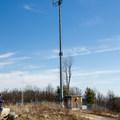 Radio tower on the summit.- Sassafras Mountain