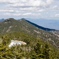 View from the Mount Mitchell summit: Mount Craig to the north, the second highest summit east of the Missippi. It can be reached via a 2-mile out-and-back hike.- Mount Mitchell via Black Mountain Campground