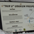 Uranium Mine sign.- Uranium Mine Snowshoe