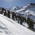 Making the last ascent over the saddle.- Lake Blanche Snowshoe
