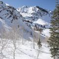 Great views along the Lake Blanche Snowshoe.- Lake Blanche Snowshoe