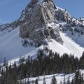 Sundial is a unique and stunning peak.- Lake Blanche Snowshoe