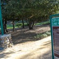 A pocket park along the trail.- Serrano Creek Trail
