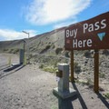 A self-pay station at the entrance. Payment is checked upon exiting.- Dumont Dunes