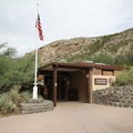 The visitor center at Montezuma Castle.- Montezuma Castle National Monument