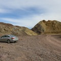 A large flat area provides parking just outside the intersection of the two canyons.- Odessa Canyon / Doran Canyon