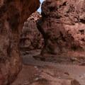 The canyon has areas of narrow sheer walls.- Odessa Canyon / Doran Canyon
