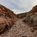 The hike is over small to medium sized boulders.- Odessa Canyon / Doran Canyon
