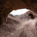 Interesting tunnel formations at the base of the canyon near the parking area.- Odessa Canyon / Doran Canyon