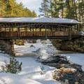 Covered bridge in Amnicon Falls State Park.- Amnicon Falls State Park