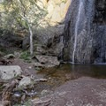 Upper Escondido Falls, an incredibly scenic falls, is treacherous to reach.- Escondido Falls