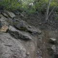 A very steep and slippery trail leads to the upper falls.- Escondido Falls