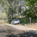 Parking is along the shoulder of the road. - Tangerine Falls