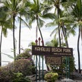 Kahalu'u Beach is located at the south end of Ali'i Drive.- Kahalu'u Beach