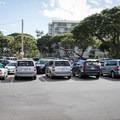 Parking fills up fast here.- Kahalu'u Beach