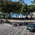 The parking area for La'aloa Bay Beach Park.- La'aloa Bay Beach Park / Magic Sands Beach