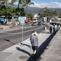 Downtown Kailua-Kona near the pier.- Kona Beach, 'Ahu'ena Heiau + Kailua Pier