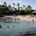 Kona Beach sits in front of the Marriott.- Kona Beach, 'Ahu'ena Heiau + Kailua Pier