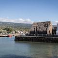 The Ahu'ena Heiau.- Kona Beach, 'Ahu'ena Heiau + Kailua Pier