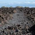 To reach Makalawena Beach you have to cross this enormous lava field.- Makalawena Beach