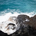 Rough seas at the End of the World.- End of the World, Kuamo'o Battlefield + Lekeleke Burial Grounds