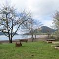 Picnic area in Harms Park along Dorena Reservoir.- Harms Park, Dorena Reservoir