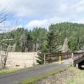 Footbridge along the Row River Trail near Harms Park.- Harms Park, Dorena Reservoir