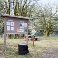 Information sign and picnic area in Bake Stewart Park.- Bake Stewart Park