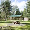 Covered picnic area in Bake Stewart Park.- Bake Stewart Park