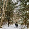 Indian Pass Trail.- MacNaughton Mountain Snowshoe via the Wallface Ponds