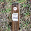 Mile marker along the Row River Trail.- Row River National Recreation Trail