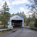 Dorena covered bridge, one of three along the Row River Trail.- Row River National Recreation Trail